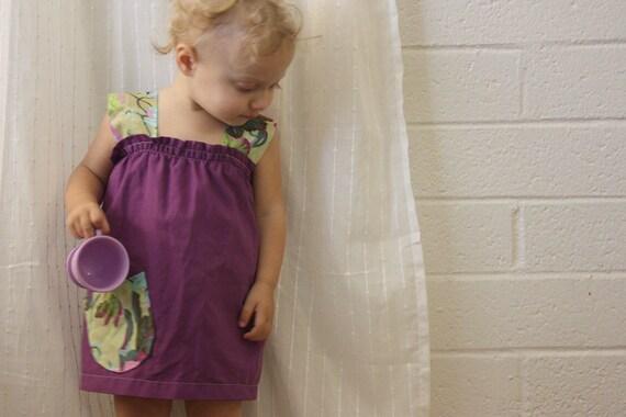one pocket garden dress PDF PATTERN/EPATTERN sizes 0/6 mos to 2T