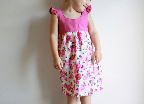 NEW let's fly away dress / pdf sewing pattern 18 months to 5 years EASY SEWING