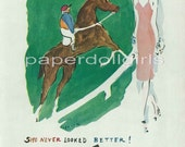 Harpers Bazaar 1945 Magazine Advertisement MISS SWANK Slip Lingerie Illustration by VERTES