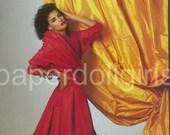 Fashion Magazine Ad, 1987, L'Officiel, Paris, Chanel, Evening Dress, Paper Ephemera, Advertising, Wall Art