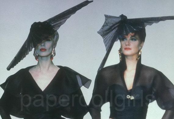 Fashion Magazine Ad, 1990 French Vogue, Emanuel Ungaro, Cocktail Dress, Paper Ephemera, Advertising, Wall Art, Original