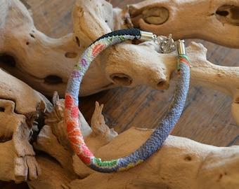 chirimen cord bracelet gray