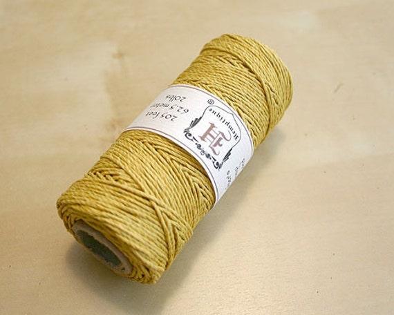 SALE Hemp Cord Yellow Gold Polished 1mm 205 Feet 20 Pound Test
