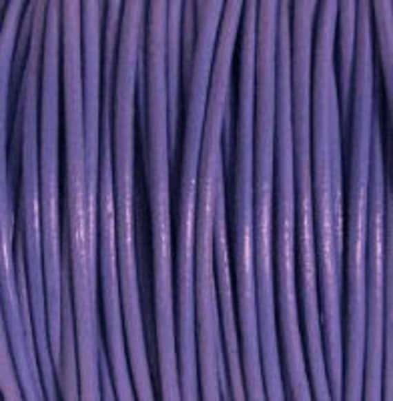 2mm Leather Cord - Light Violet - 6 Feet Premium Quality Round Cording