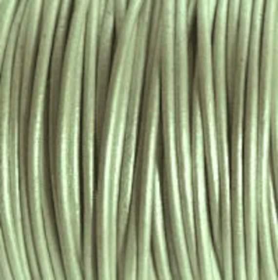 1.5mm Leather Cord - Metallic Shell - 6 Feet Premium Quality Round Cording