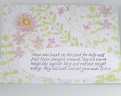 Handmade Card - Bible Verse - Encouragement - Spring Grunge Paper