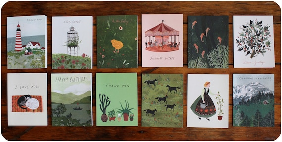 greeting card pack of 12