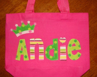 Girl's Personalized Library Tote