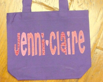 Girl's Personalized Library Bag
