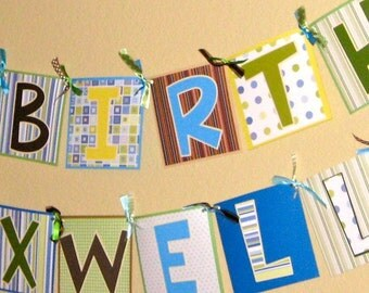 Custom made Happy Birthday, Baby Shower, It's a Boy/Girl, Congratulations, Banners (personalization is free)