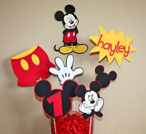 Centro de mesa fiesta cumplea os disney de mickey mouse minnie for Mesa de cumpleanos de mickey