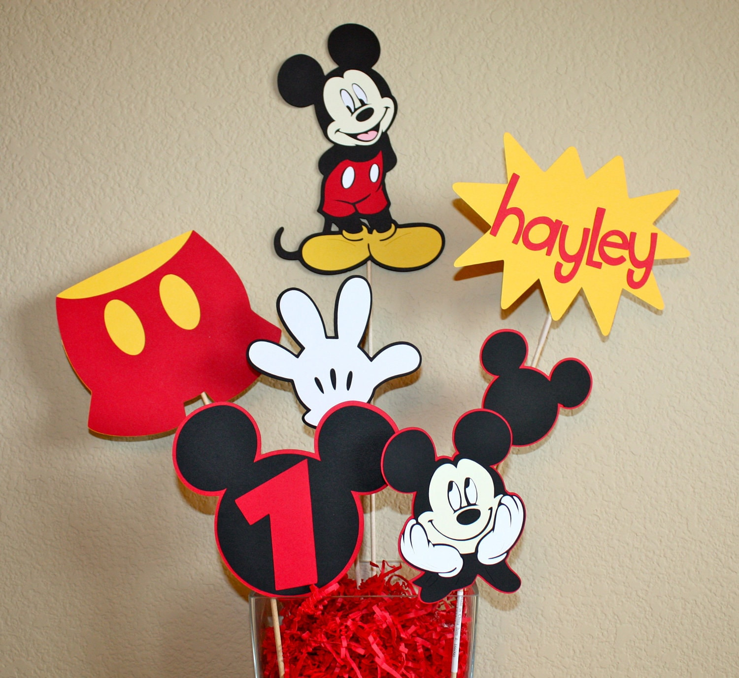 Mickey Mouse Minnie Mouse Disney Party Birthday Centerpiece