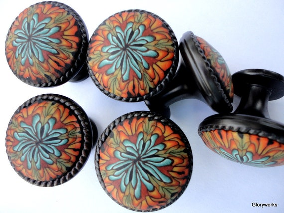 For Emiley   Cabinet Knobs   Set of 8  Polymer Clay/ Metal Plus 5