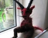 Blackchurch - Devil - Reserved custom art doll for Glitterlu