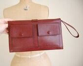 1970s two pocket leather wristlet