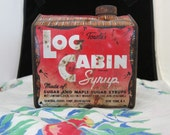 Vintage Towles Log Cabin Syrup Tin