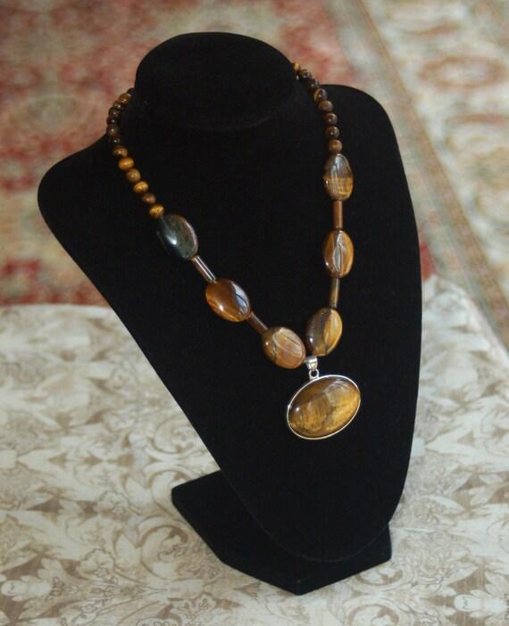 Tigers Eye Semi-precious Gemstone Necklace