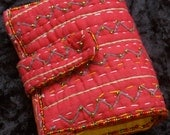 Bright Red, Hand Embroidered & Beaded Women's Wallet created through our collaboration with Calyz Textiles in Pune, India