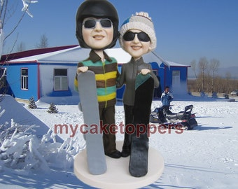 snowboard wedding cake topper, snowboard, snow