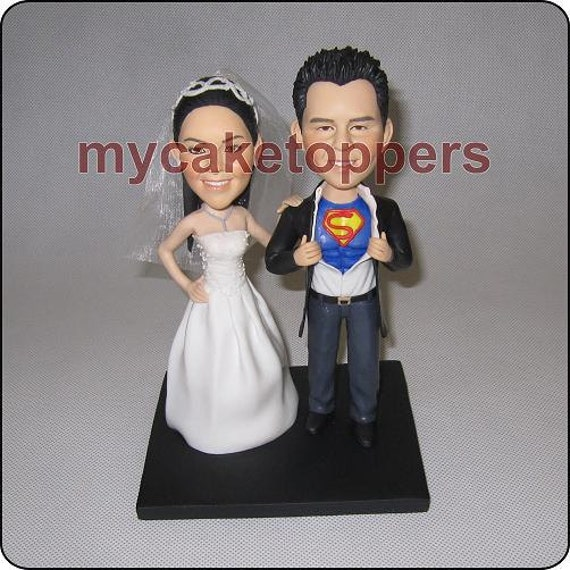 superman wedding cake toppers custom wedding cake topper superman topper by dealeasynet 20622