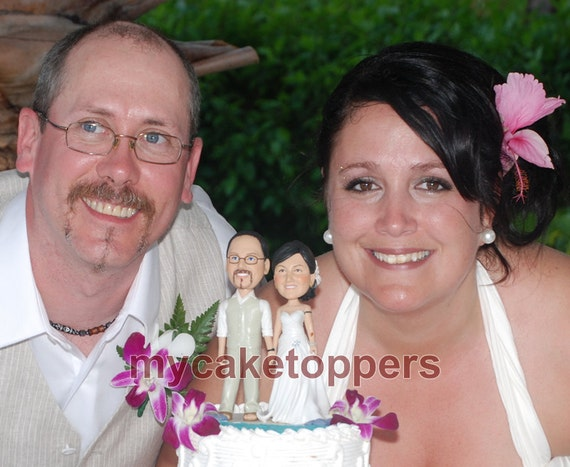 personalized wedding Cake topper- bride and groom cake topper- bride and groom- look like you- look alike- cake topper for wedding
