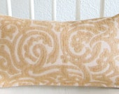 Scroll swirl light gold 8x16 mini lumbar pillow cover