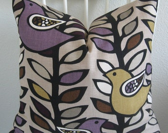 Purple yellow bird - Kas Australia - pillow cover