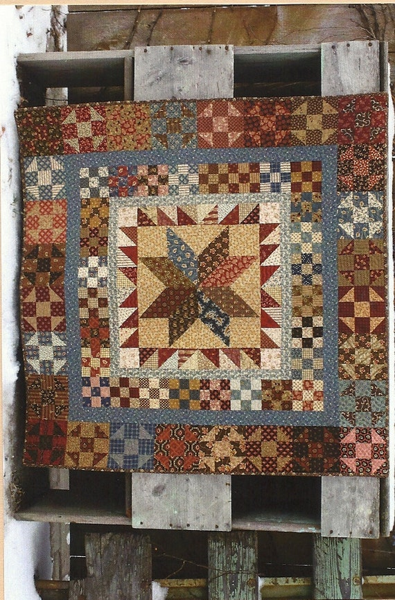 Primitive Folk Art Quilt Pattern: PRESIDENTS by PrimFolkArtShop