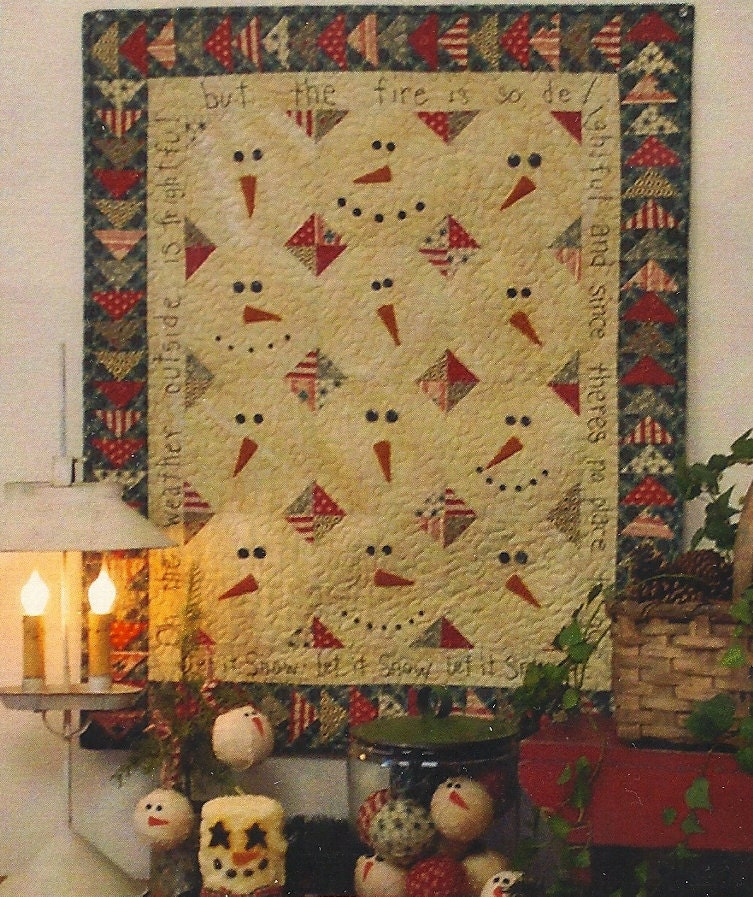 Primitive Folk Art Quilt Pattern Best Of All : Primitive Folk Art Wall Quilt Pattern and by PrimFolkArtShop