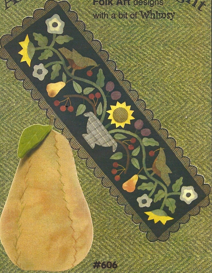 table runner wool  Folk Art Pattern: patterns Applique Primitive PrimFolkArtShop applique by Wool