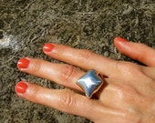 Pillow Ring, available in gold, silver, hematite