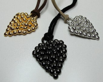 Heart Pendant available in 3 striking colors, Valentine's Day Gift