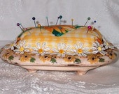 OOAK Pin Cushion - Recycled/Upcycled/Found Objects FREE Shipping