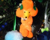 Poofy Pooz Poodle Ornament with Bling - Free Shipping