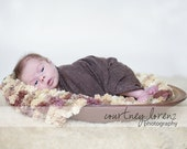Pom Pom Blanket - Bucket Basket Filler - Newborn Photo Prop