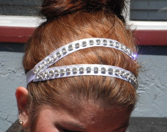 Rhinestone Ribbon Headband