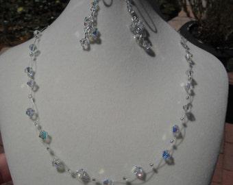 Bridesmaid Swarovski Necklace and Earring Set