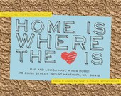 Home Is Where the Heart Is Moving Announcement (Postcard)