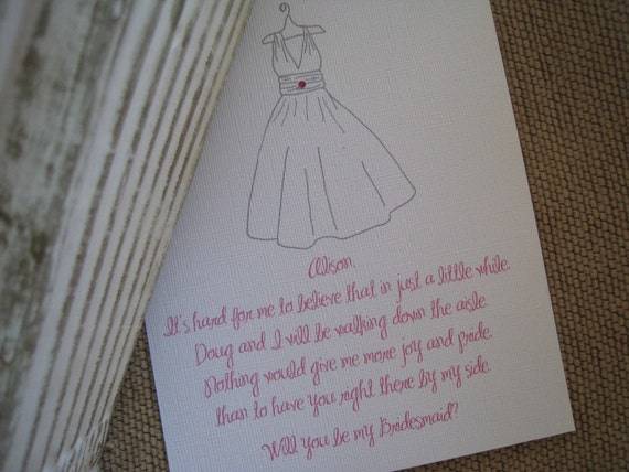 Will You Be My Bridesmaid/Maid Of Honor/Matron Of Honor Card