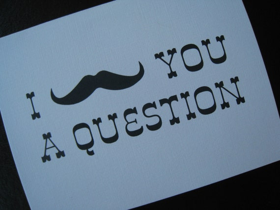 Custom Will You Be My Groomsman/Best Man/Ring Bearer Card (I Mustache You A Question)