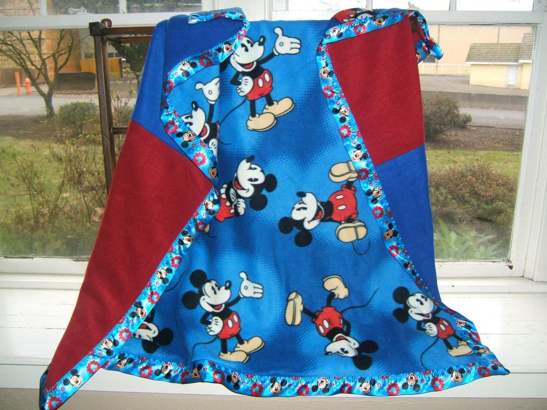 Mickey Mouse Large Fleece Blanket 55x52
