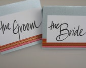 Custom Calligraphy Place Cards in Anastasia Font