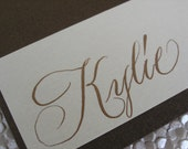 Classic Calligraphy on Table Cards // Handwritten Copperplate Script Perfect Seating Place Cards for Elegant Events, Weddings, Birthdays