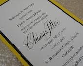 DIY Wedding Invitations in Custom Calligraphy