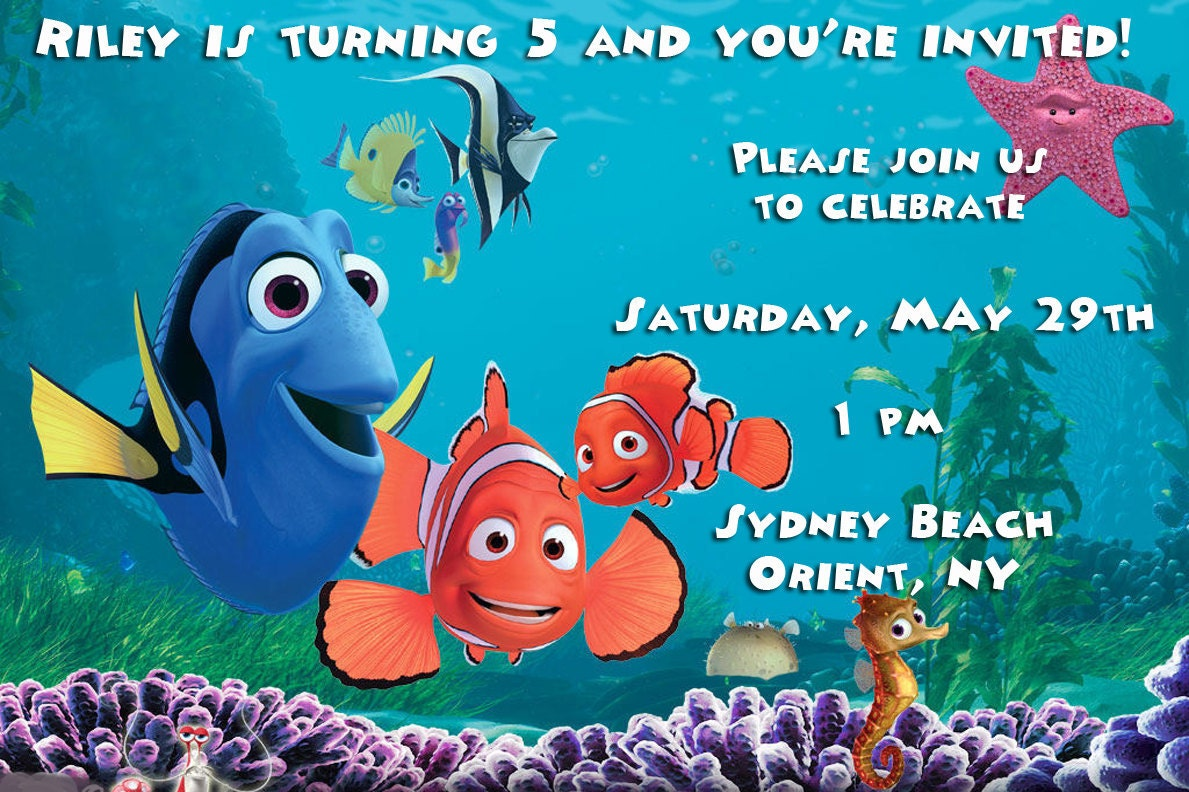 Finding Nemo Invitations as amazing invitations ideas
