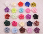 10 Satin Rosette - 15mm - Great for Floral Arrangement/Bouquet/Bridal/Crafting/Scrapbooking/Decorations