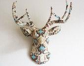 Art Deco deer head wall mount