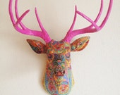 Paisley Deer Head wall mount