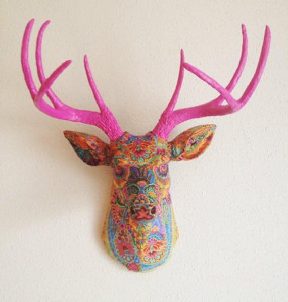 Paisley Deer Head Wall Mount