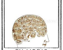 Phrenology Head Bookplates (Personalized or Blank)